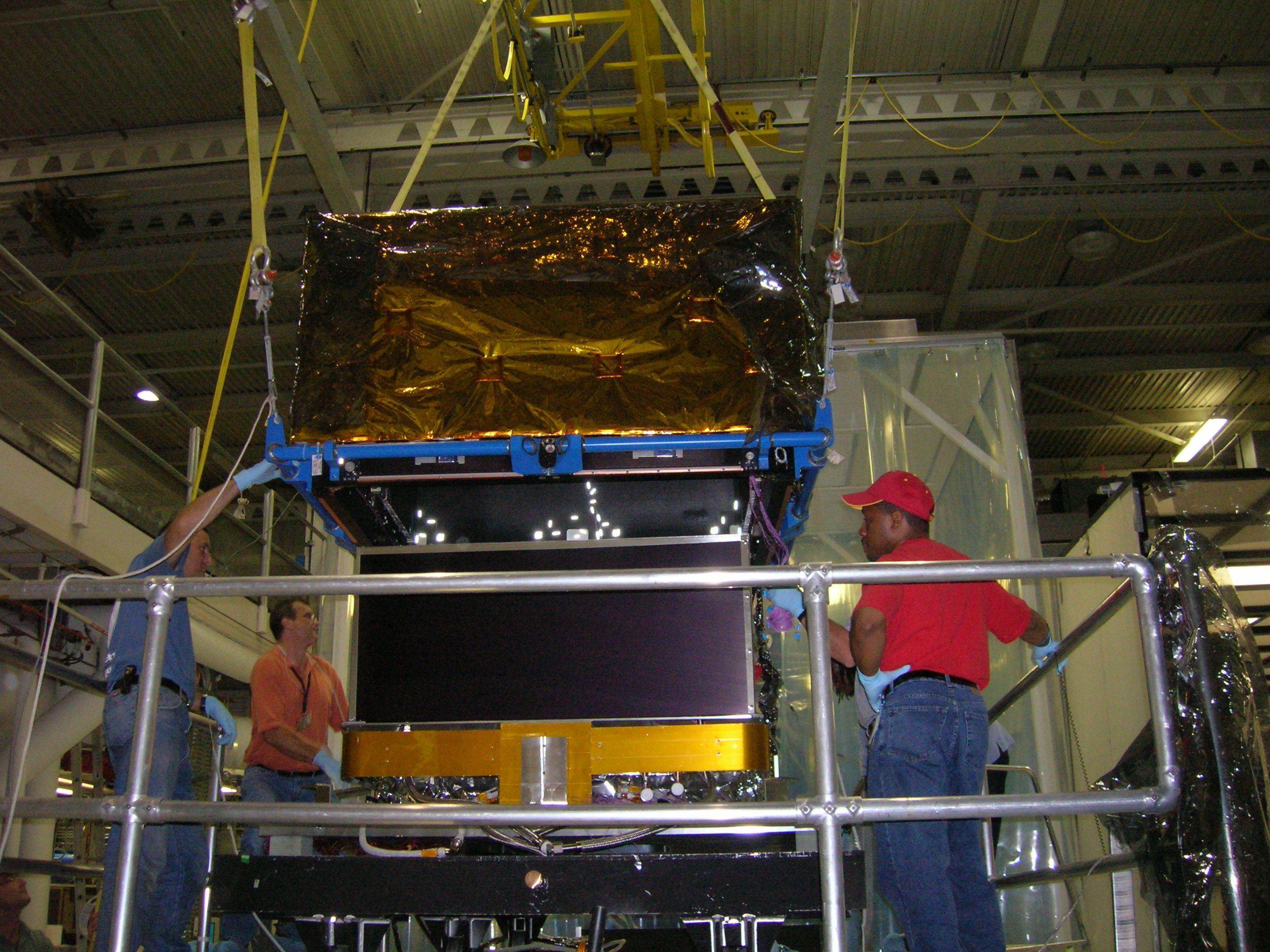 ACD Being Installed on its Thermal Vacuum Fixture