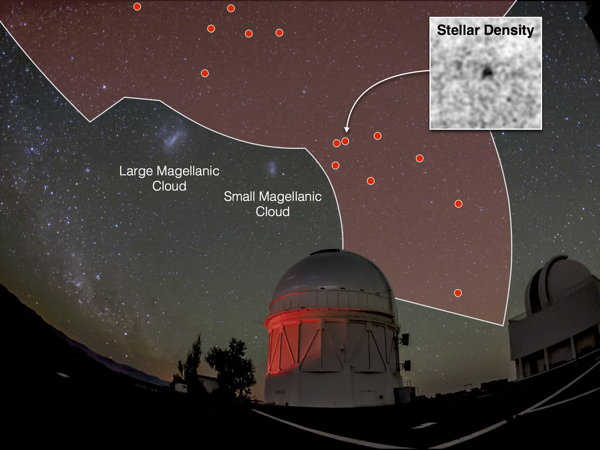 DES has mapped out one eighth of the sky revealing 17 new dwarf galaxies.  Credit: Dark Energy Survey Collaboration
