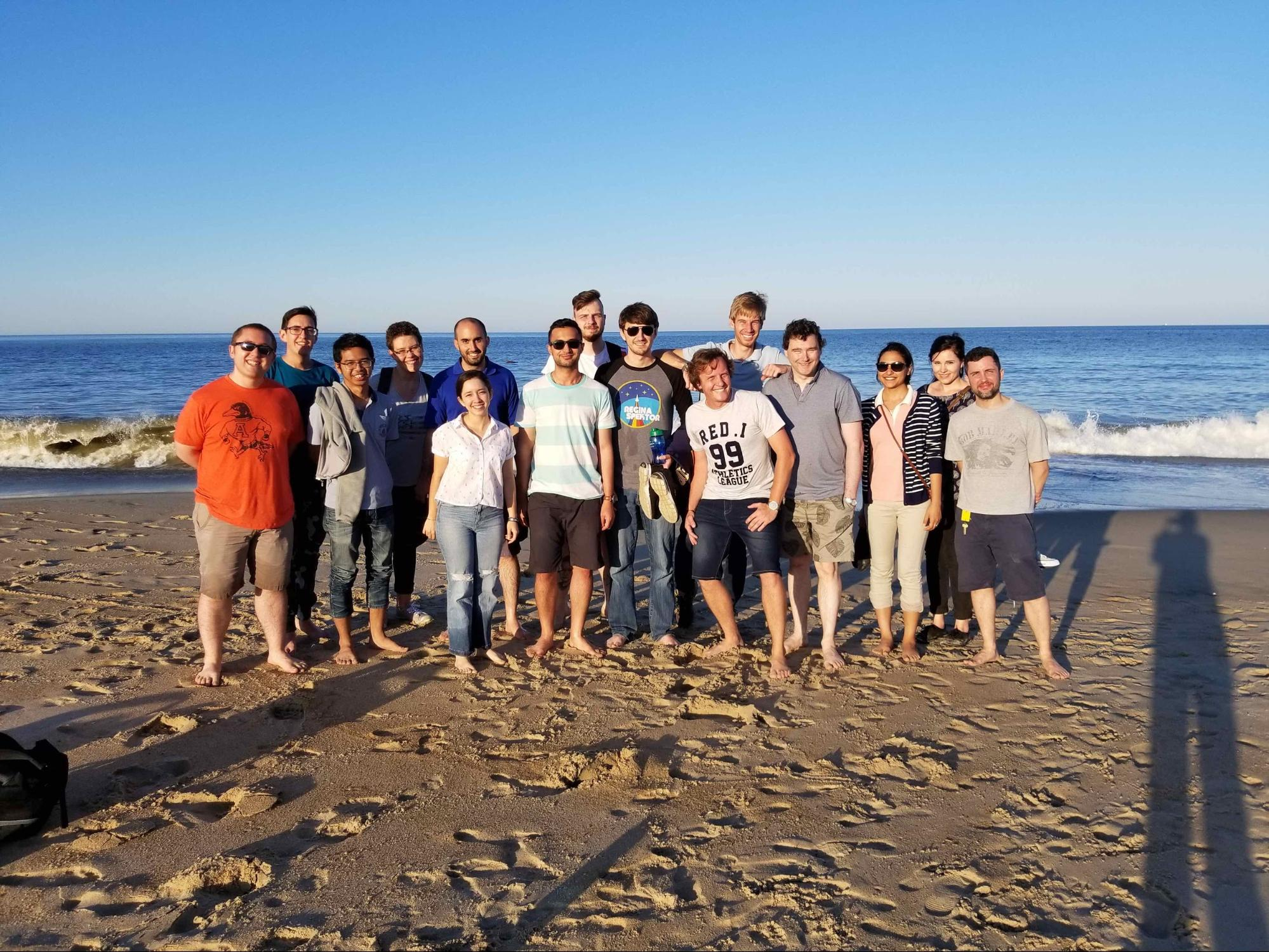 Fermi Summer School students have a beach day