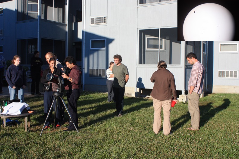 Fermi Summer School students observe transit of Venus